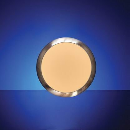 Smart LED ceiling lamp, with decorating trim, with plastic frame